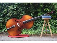 Double Bass Bundle! Bass+Bow+Soft Case+Strings+Electronic Pick Up+Bass Amp