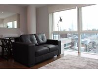 L@@K at this stunning 2 bedroom 2 bath flat, E1 7AQ, directly above Aldgate tube station, city views