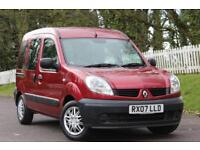 RENAULT KANGOO 1.1 AUTHENTIQUE 16V 5d 75 BHP WHEELCHAIR CONVERTED (red) 2007