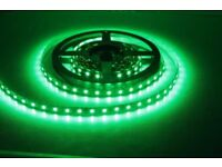 LED LIGHT STRIP GREEN INDOOR DECORATION DIY LIGHTING 5M 300 BULBS FLEXIBLE FOR HOME AND CAR