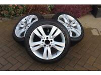 Mercedes Benz Alloy Wheels and Winter Tyres