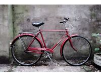 TRIUMPH TRAFFIC MASTER, vintage dutch style traditional road bike, 21 inch small size, 3 speed