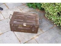 Heavy duty metal old amunition chest