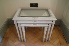 Up-cycled Art Deco Style Nest of Tables