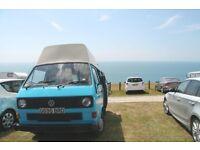 VW T25 Camper Van - High Top, Water cooled, Blue Van - Great Storage! MOT for 9 Months