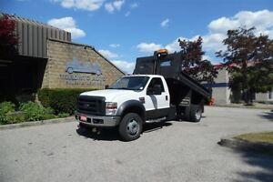 2008 Ford F-550 Hydraulic Dump body,4X4 almost new stainless ste