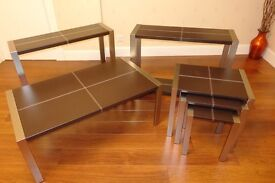 John Lewis Coffee Table, Nest of Tables and 2 Console Tables