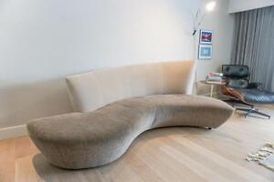 Sculptural Bilbao Sofa & Side Chair by Vladimir Kagan