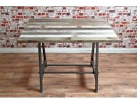 Reclaimed Teak 4-6 Seater Industrial Dining Table A-Frame - Very Rustic Wood!