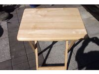 As New Small wood folding table ideal for caravan or picnic