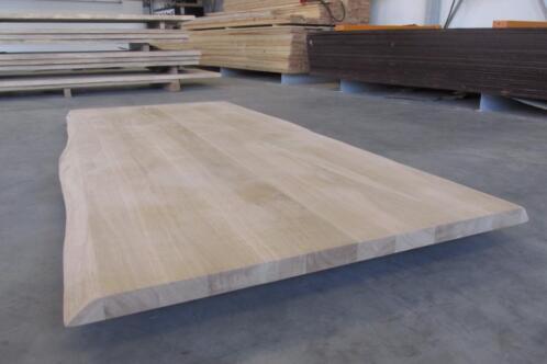Verwonderend ≥ EIKEN massief boomstamblad tafel blad tafelblad rond ovaal JN-66