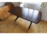 Retro Vintage Ercol Model Refectory Kitchen Dining Table