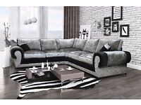 Brand new crushed velvet tango corner sofa's, also available as a 3+2 set