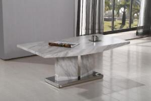 Grey Finish Marble Coffee Table (CR03)