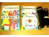 Xbox 360 Sing it karaoke Singing Game and USB Microphone Bundle