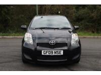 2009 Toyota Yaris TR 1.3 AUTOMATIC petrol black 91k fsh 2 prev owner hpi clear