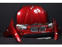 Car part : Front end pack BMW X1 E84 2.5i X Line 2009-2012 RHD headlight bonnet bumper radiator