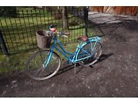 Kingston Hampton Blue Ladies Bike With Basket For Sale £130 REDUCED PRICE