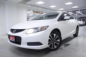 2013 Honda Civic Cpe LX, ECO, PWR ROOF, ALLOYS, ONE OWNER, NO AC