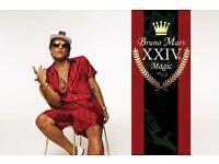 2 x Bruno Mars standing tickets MANCHESTER