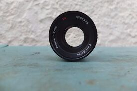CARL ZEISS 50MM 1.7 PLANAR.SUPER CONDITION.TACK SHARP.