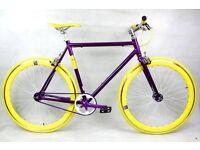 Brand new NOLOGO Aluminium single speed fixed gear fixie bike/ road bike/ bicycles qq6