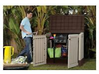 NEW Keter Midi Store it out Shed wood effect garden patio plastic storage box IN HAND