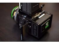 Bronica ETRS 120mm camera kit with additional metered prism finder