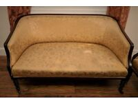 Edwardian 3 piece suite (sofa)