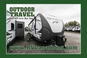 2018 FOREST RIVER Solaire 317BHSK Rear Bunk House Travel Trailer