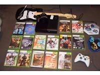 Xbox 360 250 GB Bundle Guitar Hero games