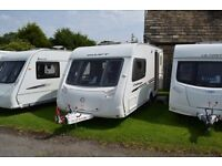 Swift Challenger 480/2, 2010, 2 berth, end washroom, touring caravan for sale.