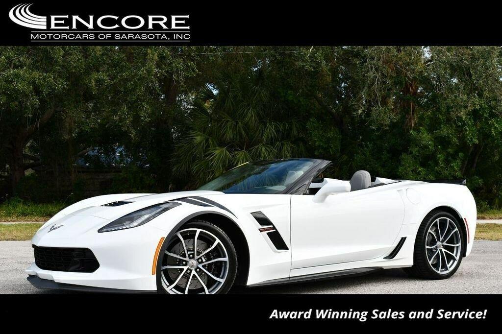 2017 White Chevrolet Corvette Convertible 3LT | C7 Corvette Photo 1