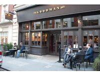 Full Time Waiter/ress - Goodman Mayfair - Best Steakhouse - Amazing Opportunity