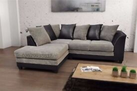 💖💥🔥💥BEST BUY AT LOW BUDGET💥💖💥 New Jumbo Cord 'Double Padded' Byron Corner Or 3+2 Leather Sofa