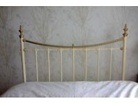 Lovely brass and cream double headboard. Immaculate condition.