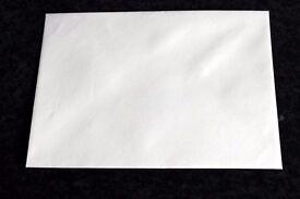 1550 Cream & White Envelopes