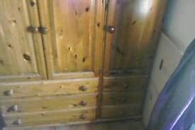 Pine wardrobe and unit