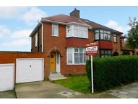 THREE BEDROOM SEMI-DETACHED HOUSE AVAILABLE TO RENT IN ENNERDALE DRIVE, KINGSBURY NW9