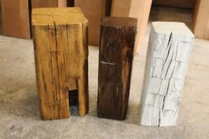 Reclaimed Canadian Barn Wood Beam Coffee Side Tables - FREE SHIPPING