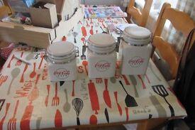 coca cola storage jars