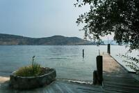 75ft Waterfront Beach in Serene Cove across from Kelowna
