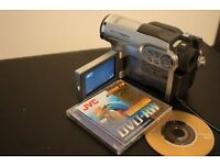 Camcorder, Hitachi Multi Format+ DVD CAM , Case, Charger, Discs & Accessories, As New,