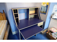 Ikea blue desk / workstation / childrens / Free delivery in Leicester