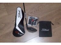 titliest 917 D3 driver stiff shaft new with tool and head cover