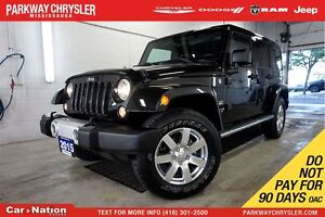2015 Jeep WRANGLER UNLIMITED SAHARA| DUAL TOP| LEATHER| NAV| REM