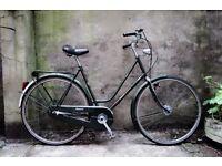 BATAVUS, 22 inch, 57 cm, vintage ladies womens dutch holland road bike, 3 speed