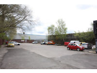 Shared secure yard to rent, CCTV, 24/7 access, right next to motorway