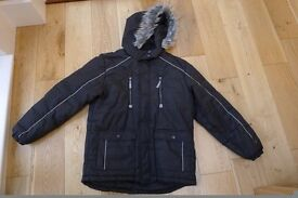 boys black winter coat