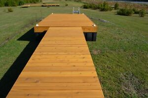 8 x 16 cedar floating dock with a 4 x 16 ramp and 9 dock floats Kingston Kingston Area image 4